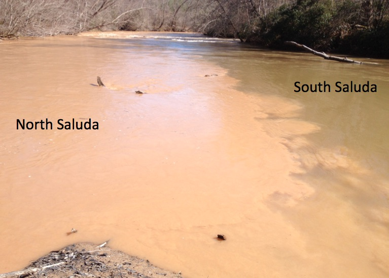 Silt load at the confluence of the North and South Saludas